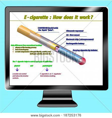 Icon tv show parts of electron cigarette