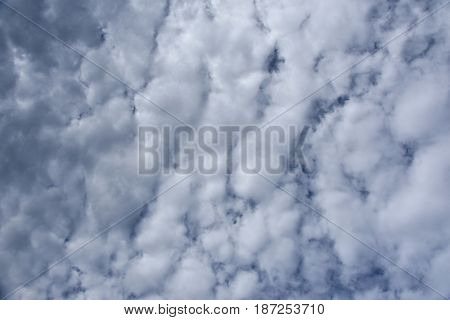 Blue sky background with white clouds. Clouds with blue sky. Clouds background. Sky print. Clouds print. View on beautiful white clouds in a blue sky. Cloudy Weather. White Cloud Formations.