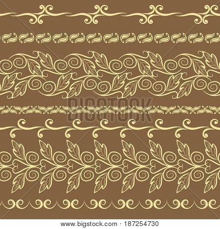 Traditional East style, ornamental floral elements. Mehndi pattern.