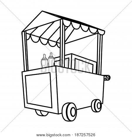 Hot dog cart icon vector illustration graphic design