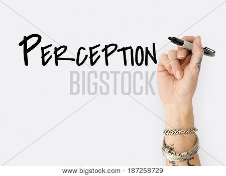 People Hand Writing Ideas Creativity  Design Word