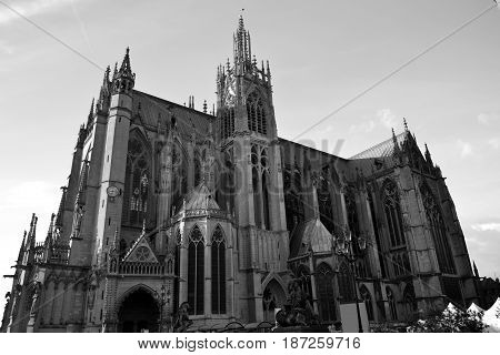 Cathedral Saint-Etienne of Metz (complete gothic building)