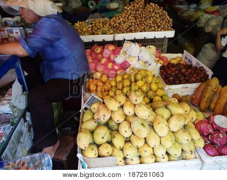 Woman Selling Fruit