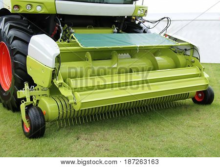 The Front of a Modern Farming Forage Harvester.