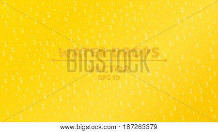 Background of fresh water drop. Ecological background. Clear glass. Realistic vector illustration. Orange background. ESP 10