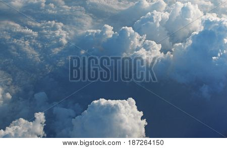 This sky cloud view from the aeroplane