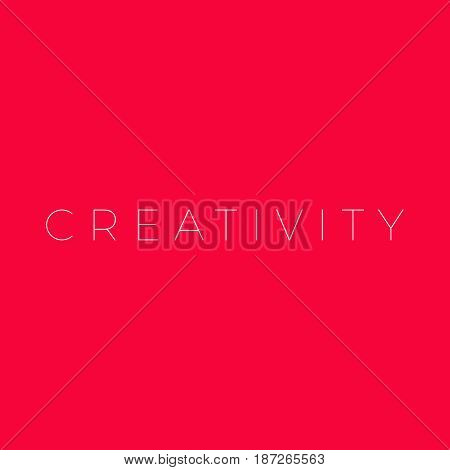 Creativity illustration  creativity word on purple background creativity concept