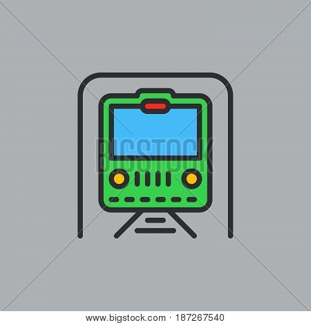 Subway underground filled outline icon line vector sign flat colorful pictogram. Symbol logo illustration. Pixel perfect