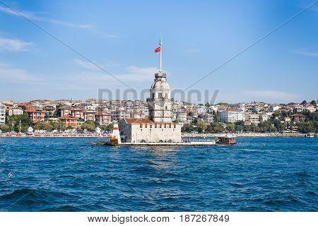 Istanbul, Turkey - September 22, 2014: Maiden tower in Istanbul, Turkey