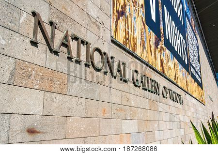 National Gallery Of Victoria Sign