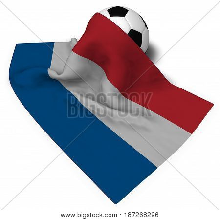 soccer ball and flag of the netherlands - 3d rendering