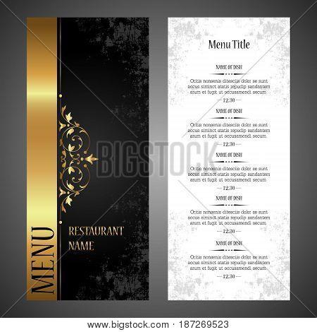 Restaurant menu vector design template - luxury vintage style