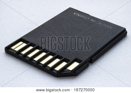 sd card on a white background .