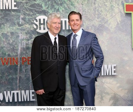 LOS ANGELES - MAY 19:  David Lynch, Kyle MacLachlan at the