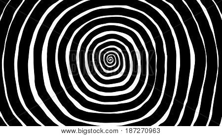 Vector Spiral, Background. Hypnotic, Dynamic Vortex.