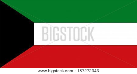Flag of Kuwait, vector illustration on white background