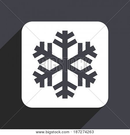 Snow flat design web icon isolated on gray background