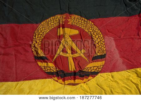 old flag of the german democratic republic