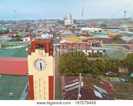 Clock Tower In Diriamba Town