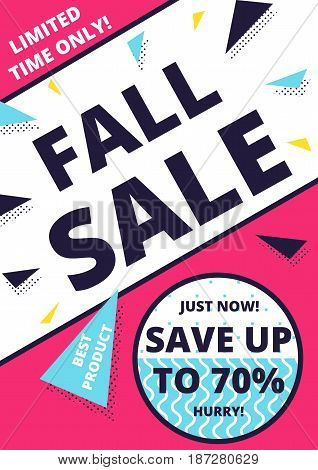 Flat design sale website banner template. Bright colorful vector illustrations for social media, posters, email, print, ads designs, promotional material. Yellow Pink Blue black and white