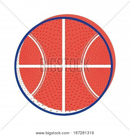 basketball ball to training play game sport, vector illustration