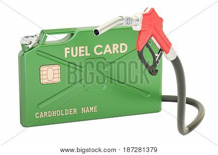 Fuel card concept 3D rendering isolated on white background