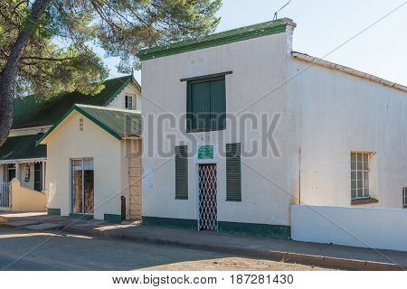 PHILIPPOLIS SOUTH AFRICA - MARCH 21 2017: An art gallery in Philippolis the oldest town in the Free State Province