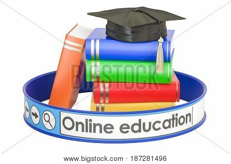 online education concept 3D rendering isolated on white background