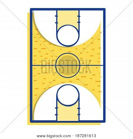 basketball sport field to play competition, vector illustration