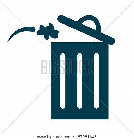 Trash bin or delete icon. Trash bin logo flat design style. Delete vector icon. Trash bin Isolated on white background.