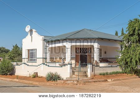 PHILIPPOLIS SOUTH AFRICA - MARCH 21 2017: An historic old house in Philippolis the oldest town in the Free State Province