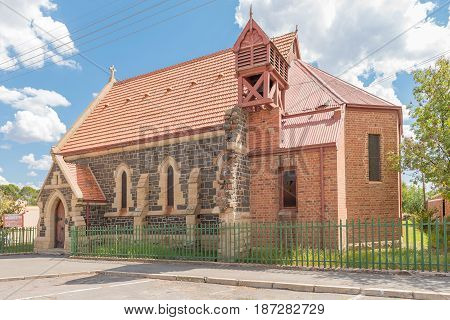 NOUPOORT SOUTH AFRICA - JANUARY 6 2015: The war museum in the building of the former historic Anglican Church