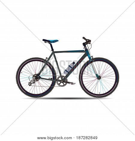 Vector illustration of touring bike. Road racing bicycle flat style design element isolated on white background.