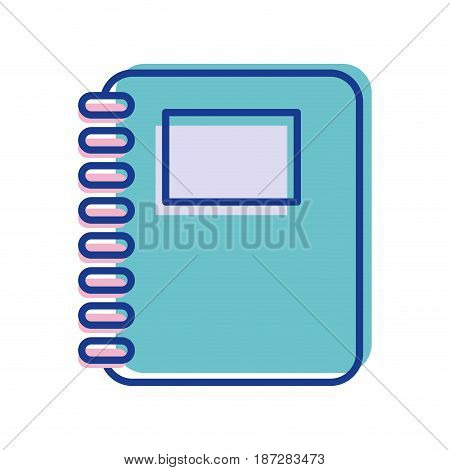 rings notebook tool to study and learn, vector illustration