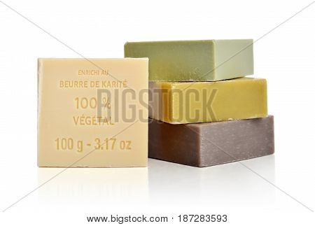 Enriched With Shea Butter 100% Vegetal Soaps