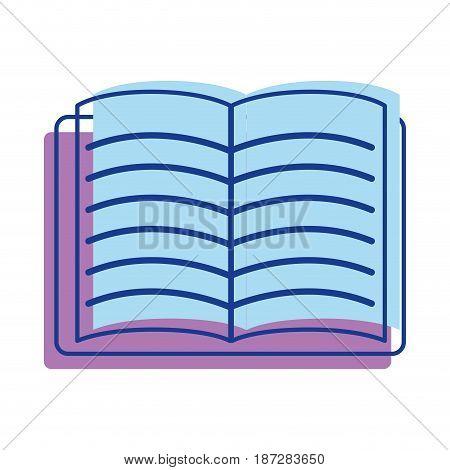 school notebook open to study icon, vector illustration