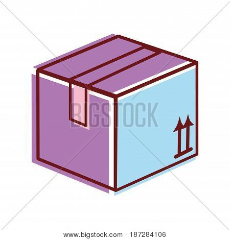 box pack to delivery services, vector illustration image