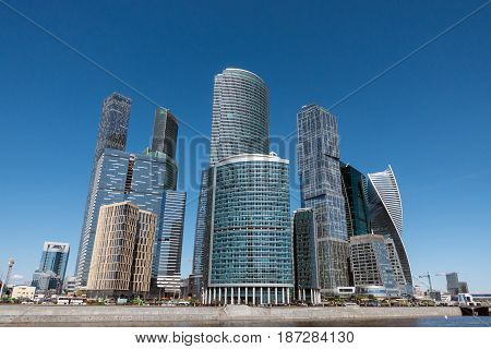 The Complex Of Buildings Moscow City