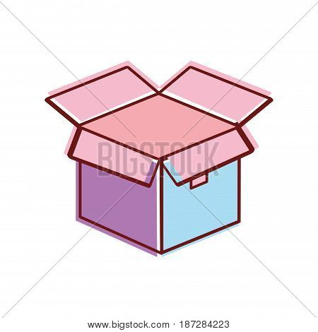 open box pack to delivery services, vector illustration image