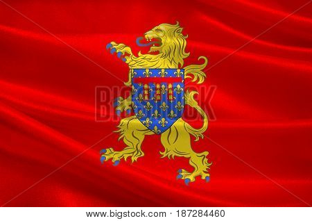 Flag of Arras is the capital of the Pas-de-Calais department which forms part of the region of Hauts-de-France. 3d illustration
