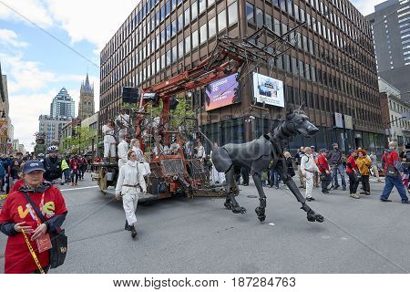 Montreal Streets During 375Th Birthday Bash