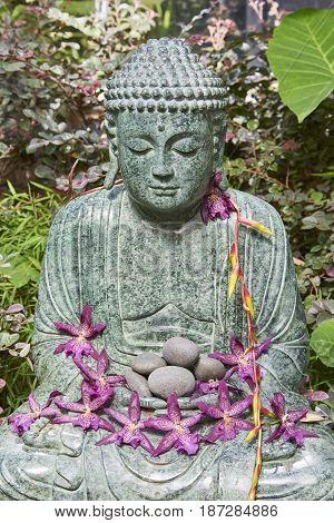 Buddha figurine at Selby Botanical Gardens Floridas