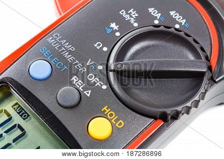 Mode Switch Of Digital Clamp Multimeter Closeup