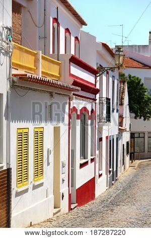 Empty street in Lagos old town, Algarve, Portugal