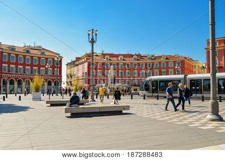 Central Square In Nice, France