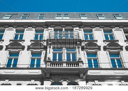 Beautiful Old Residential Building Facade