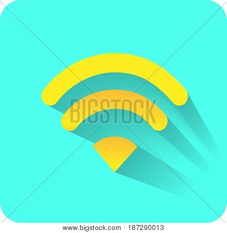 wifi yellow icon ethernet Vector EPS 10
