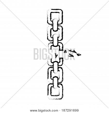 figure good metal chain to protect something, vector illustration