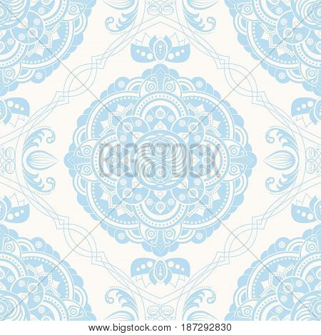 Spring floral seamless pattern. Provence style. Flowers wallpaper, indian motive