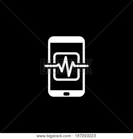 Mobile Medical Supervision Icon. Flat Design. Isolated Illustration.